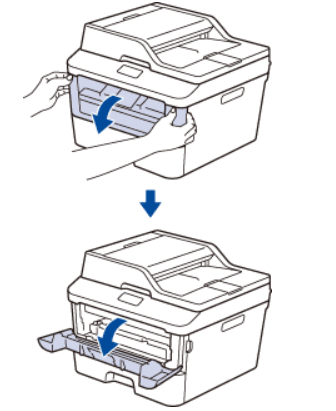 How to open the front cover